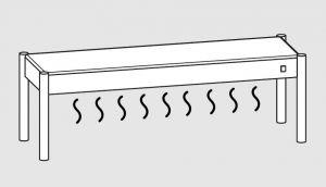 64001.10 Ripiano di appoggio tavoli 1 ripiano caldo cm 100x35x40h