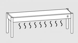 64001.20 Ripiano di appoggio tavoli 1 ripiano caldo cm 200x35x40h