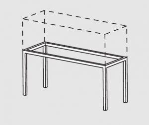 66000.18 Supporto pensile da tavolo cm 180x40x60h