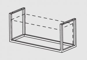 66001.20 Supporto pensile a soffitto cm 208x40x140h