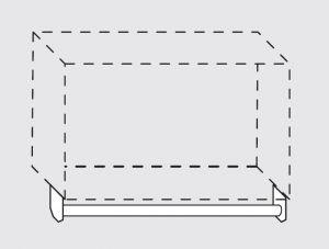 66020.19 Portamestoli per pensili senza ganci da cm 190x1.6