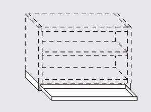 66024.18 Bacinella raccogli gocce per pensili da cm 180x40 completa di staffe di supporto