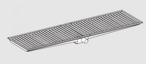 85021.34 Piletta sifonata a pavimento da cm 340x30x12h con filtro e scarico orizzontale frontale