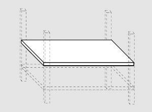 93600.30 Ripiano intermedio per tavoli past prof 80 cm 300x80x4